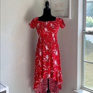 🆕 Floral On/Off The Shoulder Maxi Dress